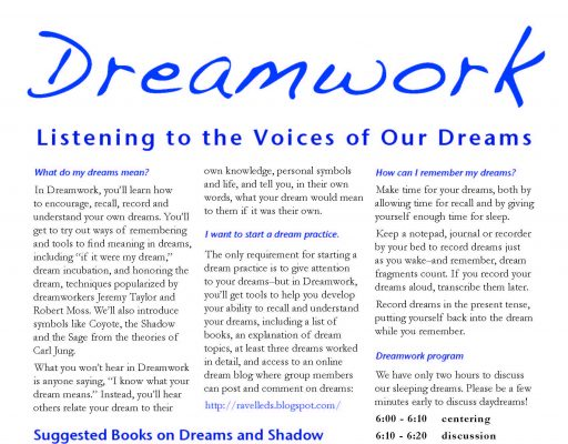 Dreamwork Flyer