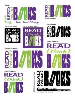 Read (Think) Books Logo