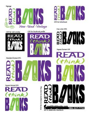 Read (Think) Books Logo