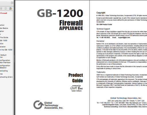 GB-1200 Firewall Appliance Product Guide