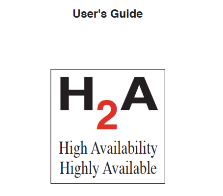 High Availability User's Guide