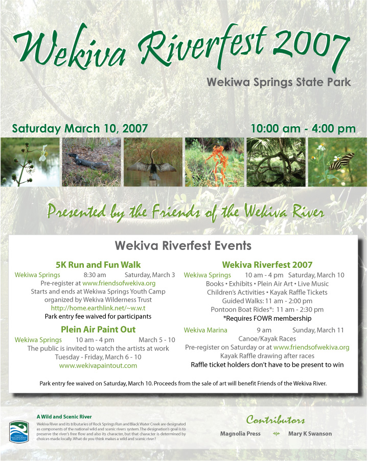 Wekiva Riverfest Flyers