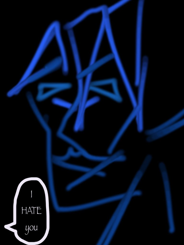 The Blue Man I hate for reminding me that I have not birthed any creative children.